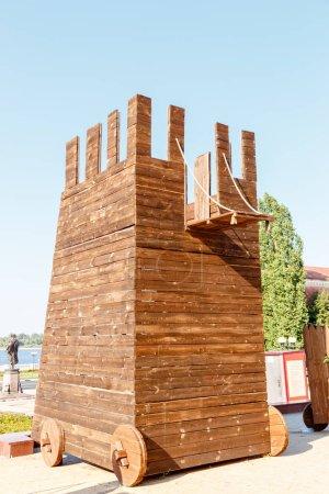 Russia, Nizhny Novgorod - August 22, 2017: The Big Museum Complex Nizhny Novgorod Kremlin. The device for the siege of fortresses
