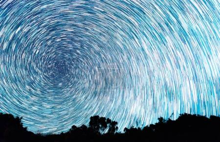 Tracks from stars in the form of spiral lines