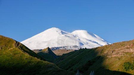 Mount Elbrus at dawn. Caucasus Mountains, Russi