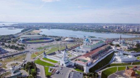 Panoramic view of the Kazan Kremlin. Kazan, Russia