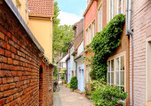 Bremen, Germany. Houses in the historic district of Bremen Schno