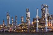 Oil refinery factory twilight
