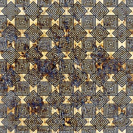 Foto de Modelo de repetición geométrica con fondo textual - Imagen libre de derechos