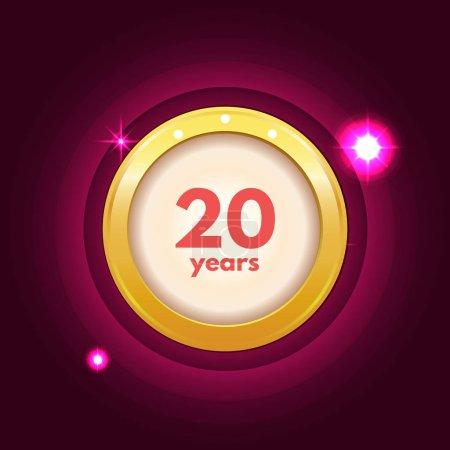 Anniversary 20 years icon