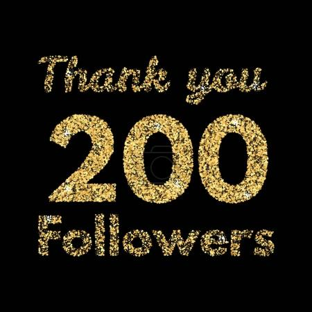 Thank you 200 followers banner.Template for social...