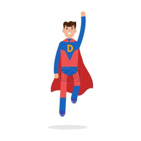 Illustration for Father superheroes. Super Dad character. Vector illustration. - Royalty Free Image