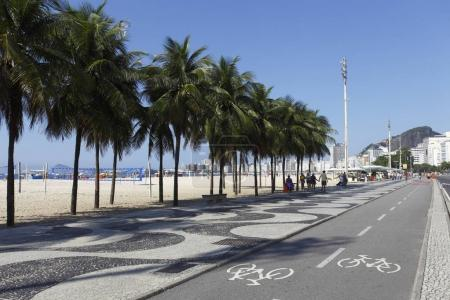 Copacabana Beach promenade in Rio de Janeiro, Brazil