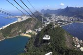 Cable car view of Rio de janeiro, Brazil