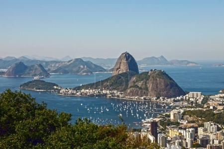 Aerial scenic view of City of Rio de Janeiro, the main tourist destination in Brazil
