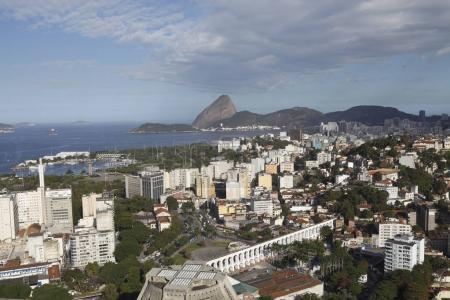 Amazing aerial view of Rio de Janeiro coast, Brazil