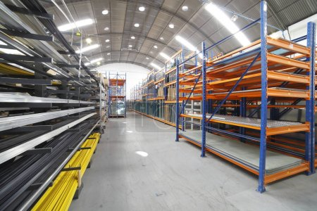 Modern large warehouse view