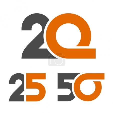 20 25 50 anniversary number - illustration for the...