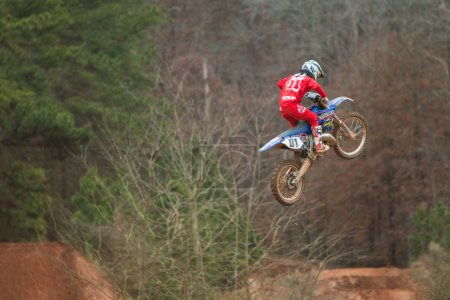Rider Suspended In Midair Doing