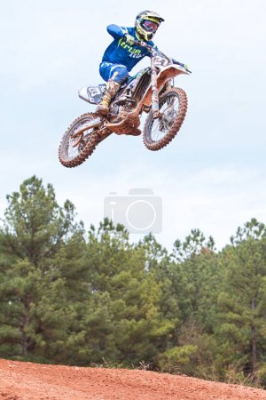 Rider Gets Airborne Going Over