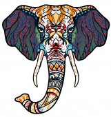 Ethnic patterned head of elephant African / indian / totem / tattoo design Use for print posters t-shirts