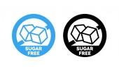 Sugar free label vector nor sugar added  package