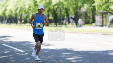 Contender from Israel competing in the 31st Belgrade Marathon