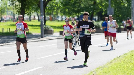 Contenders from many countries competing in Belgrade Marathon