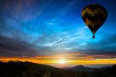 Colorful hot-air balloons