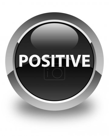 Positive glossy black round button