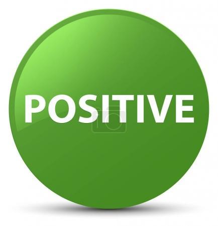 Positive soft green round button