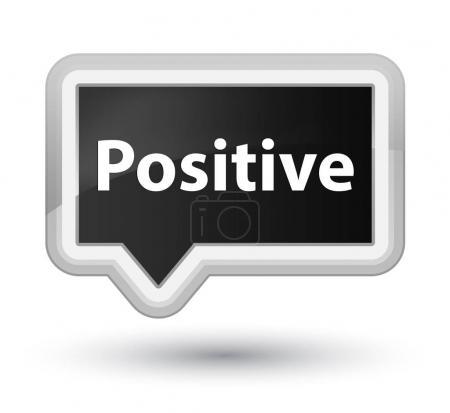 Positive prime black banner button