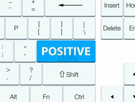 Positive cyan blue keyboard button