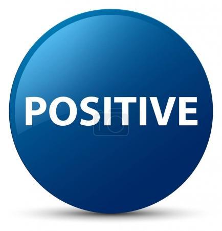 Positive blue round button