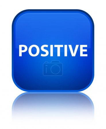 Positive special blue square button