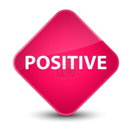 Positive elegant pink diamond button