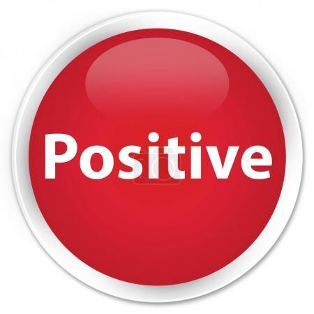 Positive premium red round button