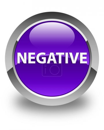 Negative isolated on glossy purple round button ab...