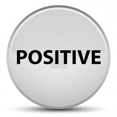 Positive special white round button