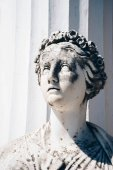 Statue of the  Muse Euterpe in Achillion palace in Corfu, Greece