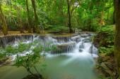 Huay Mae Kamin Waterfall in  Kanchanaburi Province. Thailand