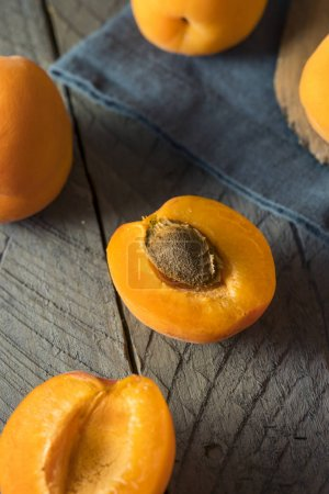 Raw Orange Organic Apricots Ready to Eat...