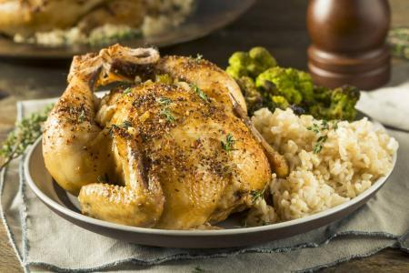 Herby Baked Cornish Game Hens