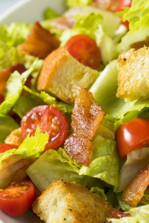 Photo for Healthy BLT Salad with Croutons and Dressing - Royalty Free Image