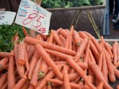 Carrots for sale at farmer's market