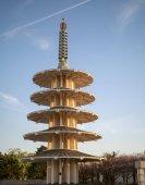 Full view of San Francisco Peace Pagoda in Japantown neighborhoo