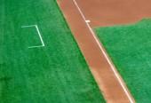 Third base and coach box of a baseball diamond