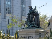 """Controversial """"Early Days� statue in Civic Center area of Sa"""