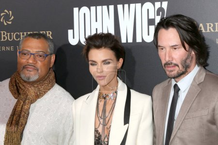 Laurence Fishburne, Ruby Rose, Keanu Reeves