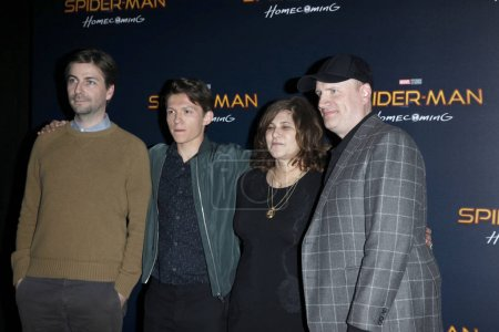 Jon Watts, Tom Holland, Amy Pascal, Kevin Feige