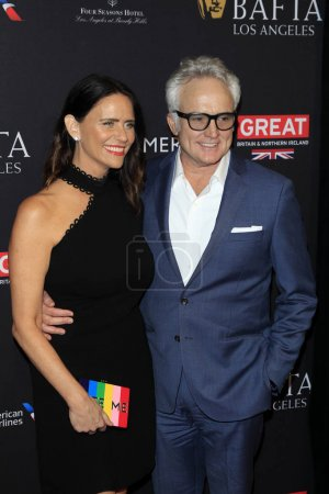 Photo pour LOS ANGELES - JAN 6 : Amy Landecker, Bradley Whitford au BAFTA Tea Party 2018 Arrivée au Four Seasons Hotel Los Angeles le 6 janvier 2018 à Beverly Hills, CA - image libre de droit