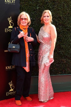 Photo for LOS ANGELES - APR 29:  Elizabeth Hubbard, Martha Byrne at the 45th Daytime Emmy Awards at the Pasadena Civic Auditorium on April 29, 2018 in Pasadena, CA - Royalty Free Image