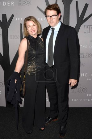 """Photo for LOS ANGELES - JAN 9:  Melissa Braning, Derek Cecil at the """"The Outsider"""" Los Angeles Premiere  at the Director's Guild of America on January 9, 2020 in Los Angeles, CA - Royalty Free Image"""