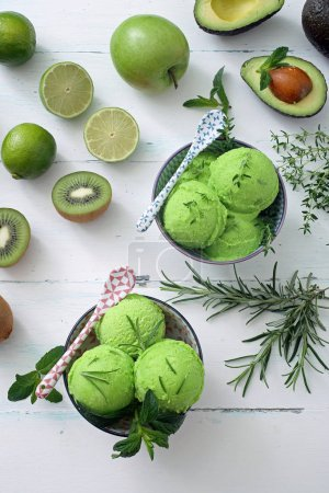 green ice cream balls