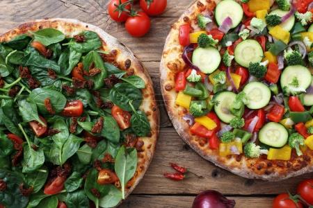 Delicious vegetarian pizzas