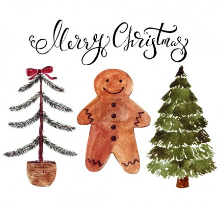 Photo for Christmas decoration with gingerbread cookies - Royalty Free Image